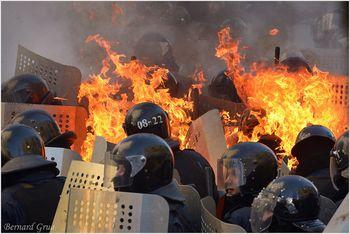 Berkuts- Rue chovkovytchna – Kyiv 18/02/2017 – Photo Bernard Grua