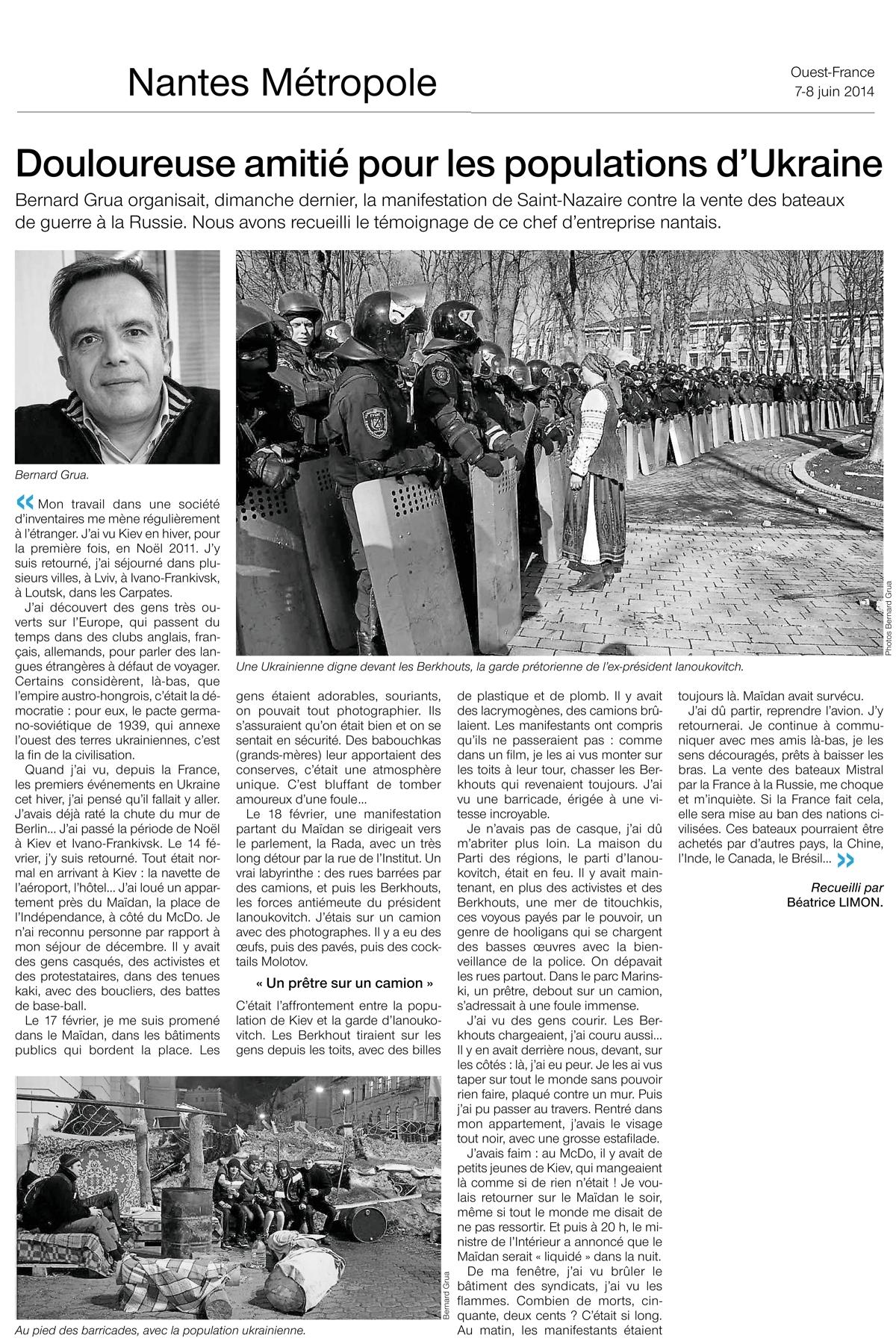 Maidan Ukraine Bernard Grua
