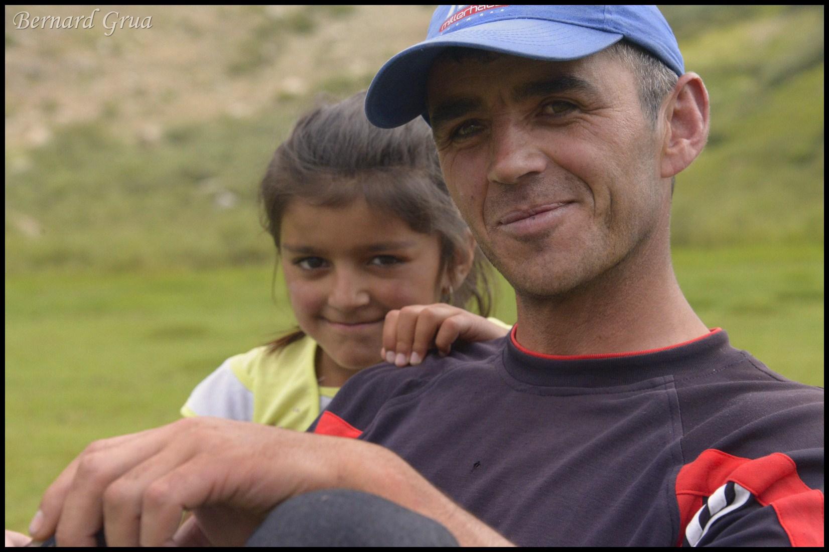 A proud father,, Pamir, Tajikistan - Tosion, Tusiyan, Tusen, Тусен