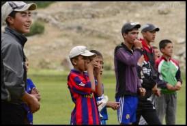 Football tournament in mountains Pamiri people, Tusion, Badakhshan, Tajikistan 03/08/2013