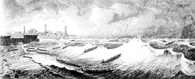Slastion-Cossack_boats_reach_Constantinople 1900s