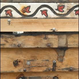 Pièces de réparation des parties pourries des bordés contre le deuxième couple. Nouveau liston. Pont-Aven, Finistère, Bretagne 28/07/2016