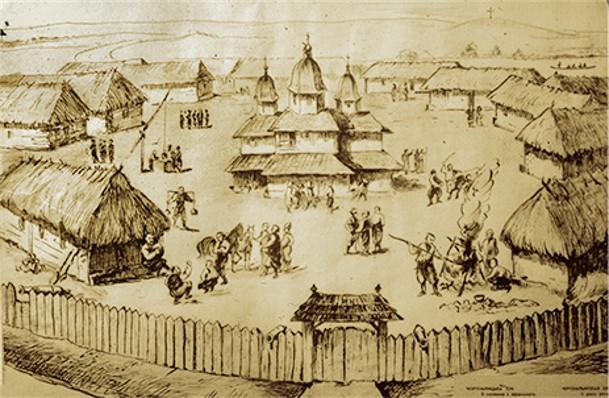 La Sitch des Zaporogues, d'après Riegelmann