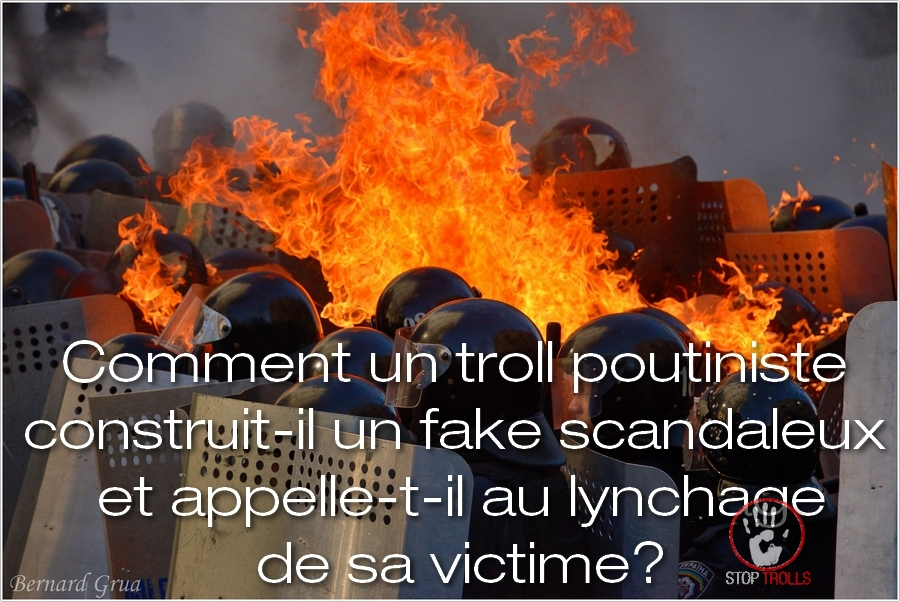 "Le troll n'est pas, comme on a trop souvent tendance à le penser, un individu qui se contente de poster, sur les réseaux sociaux, des commentaires injurieux, insultants, pervers et/ou diffamatoires. Il en existe une catégorie de déviants, qui cultivent le trollisme sur leurs blogs. Voici l'exemple concret de construction, par un troll, d'un profil virtuel diffamatoire, d'autant plus intéressant, qu'il repose sur quelques éléments très simples mais qui savent parfaitement toucher le lectorat auquel ils s'adressent. Il s'agit d'un « papier » produit par le troll Laurent Courtois dont le titre est : « Comment Bernard Grua, pris fait et cause pour l'Ukraine ? ». Courtois Laurent tient un blog diffamatoire, ""Chronique de la (Ukr)haine ordinaire"". Il a brièvement envoyé quelques papiers à Novorossia Today, de Donetsk dans le Donbass occupé. Il sévit, aujourd'hui, sur Agoravox, site web hébergeant principalement de la ""ré-information""."