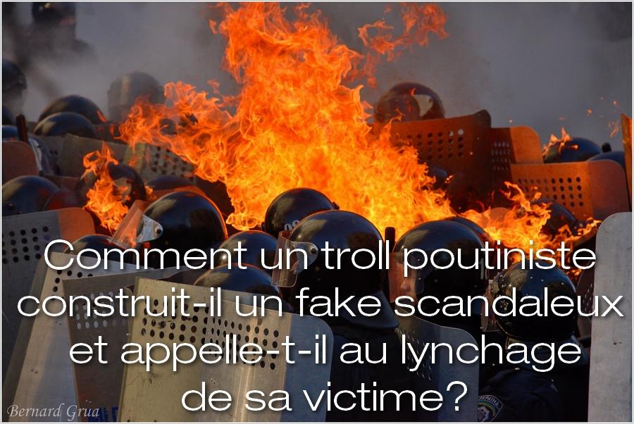 Le fake du troll Laurent Courtois, néo-nazi, par Bernard Grua