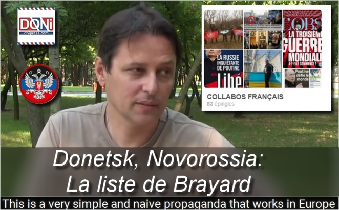 La liste fasciste de délation calomnieuse par Laurent Brayard, Doni Press - Novorossia Donetsk Laurent Courtois