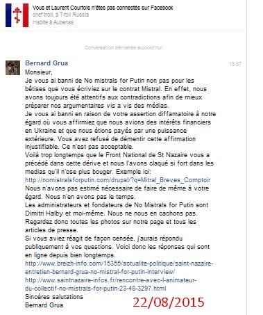 Informations communiquées au troll Laurent Courtois