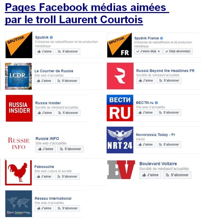 Le troll Laurent Courtois Laurent, la propagande du Kremlin et les médias de la fachosphère par Bernard Grua Agoravox Novorossia Donetsk
