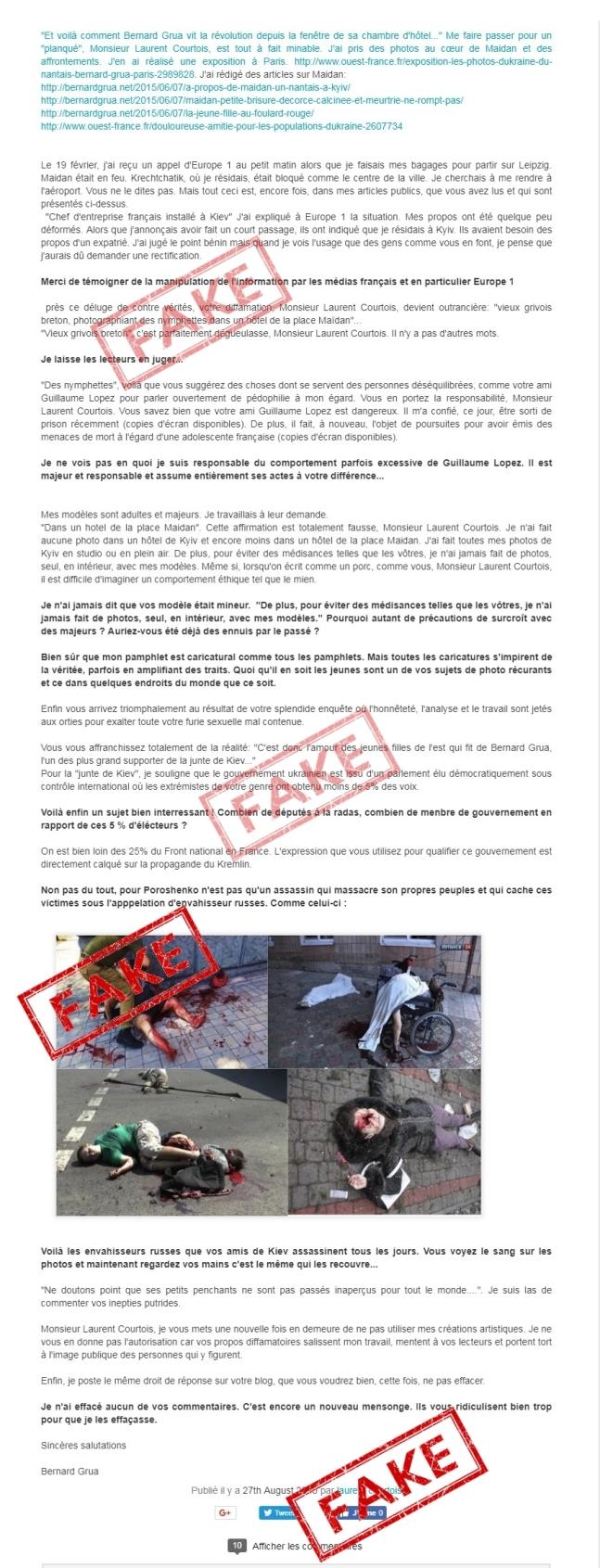 Comment Bernard Grua pris fait et cause pour l Ukraine DroitRep1 Laurent Courtois Donetsk Novorossia Agoravox