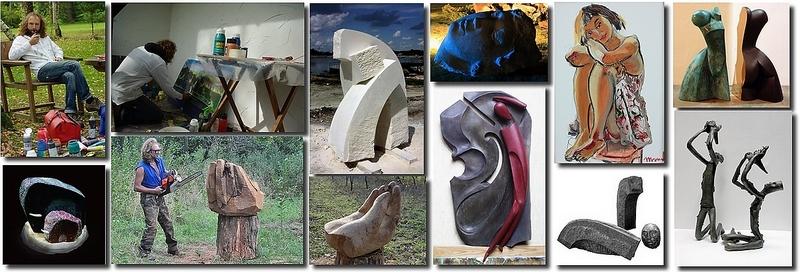 Exemples de créations artistiques de Taras, photos de ses pages Facebook