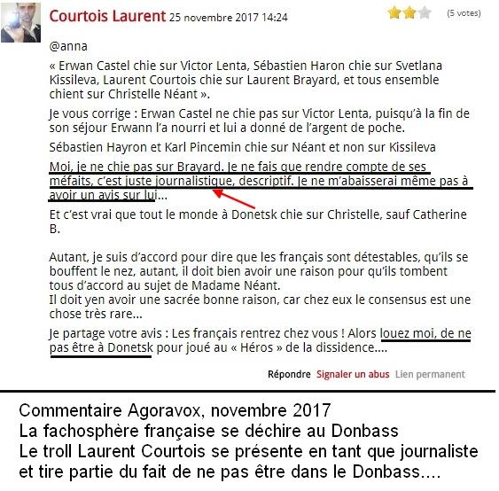 Le troll Laurent Courtois sème la haine à Donetsk, Novorossia, Agoravox, Laurent Brayard Doni Press