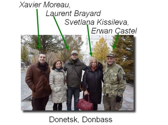 Laurent Brayard, Xavier Moreau, Svetlana Kissileva, Erwan Castel, Laurent Courtois Donetsk