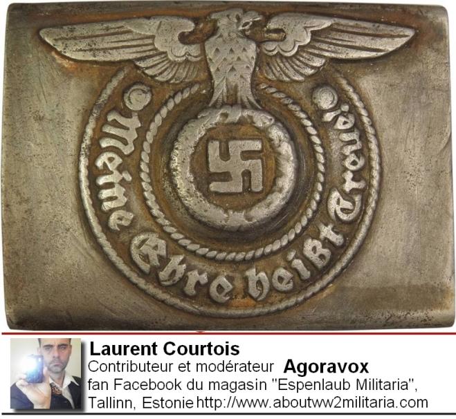 Boucle de ceinturon SS - nazis - fascistes - Espenlaub Courtois Laurent, Donetsk, Donbass, Ukraine