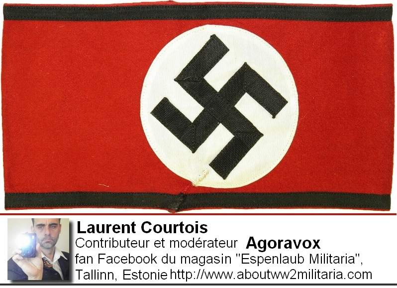 Brassard SS - nazis -fascistes- Espenlaub Courtois Laurent, Donetsk, Donbass, Ukraine