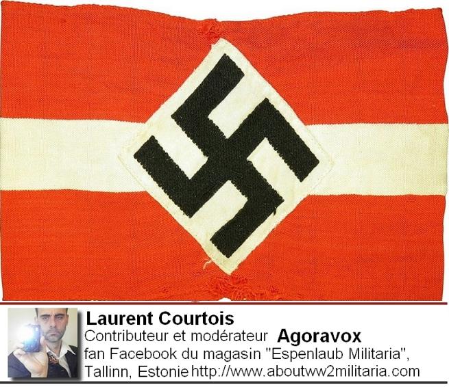 Drapeau nazi boutique Espenlaub Courtois Laurent, Donetsk, Donbass, Ukraine