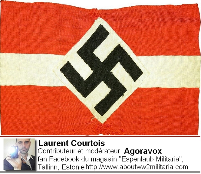 Drapeau fasciste, nazi, boutique Espenlaub Courtois Laurent, Donetsk, Donbass, Ukraine
