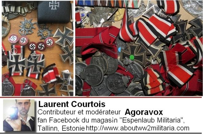 Médailles nazies boutique Espenlaub Courtois Laurent, Donetsk, Donbass, Ukraine