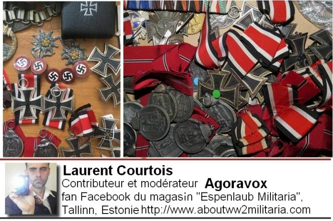 Médailles fascistes, nazies boutique Espenlaub Courtois Laurent, Donetsk, Donbass, Ukraine