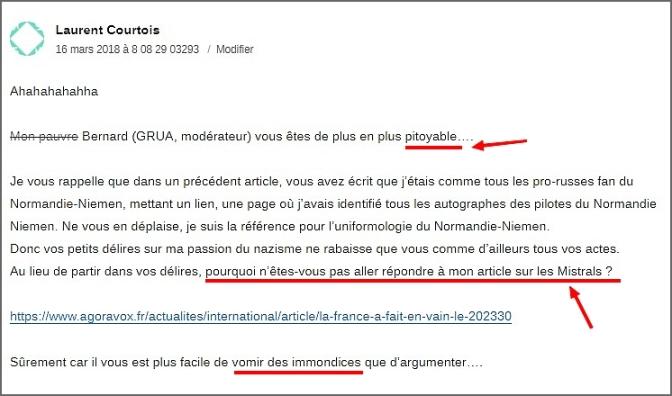 Désir de polémique du troll Laurent Courtois sur Agoravox