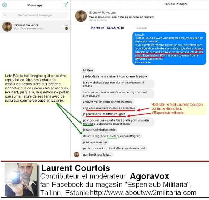 Faux compte Laurent Courtois articles nazis et fascistes