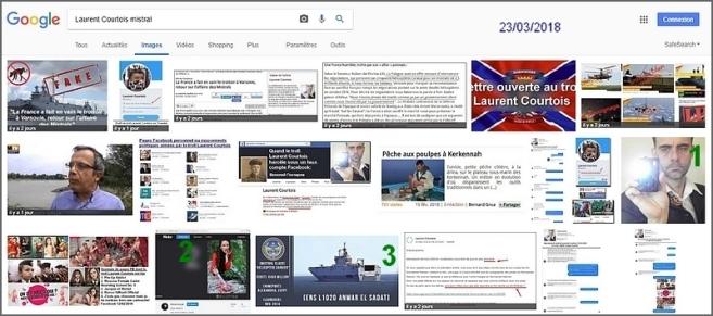 Laurent Courtois, troll-auteur d'Agoravox, résultats de la recherche google image Mistral - Donetsk, Donbass