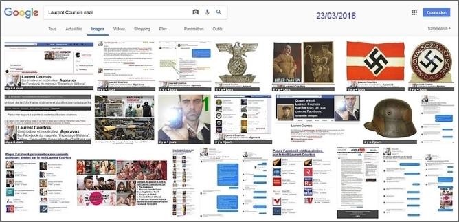 Laurent Courtois, troll-auteur d'Agoravox, résultats de la recherche google image nazi, fasciste