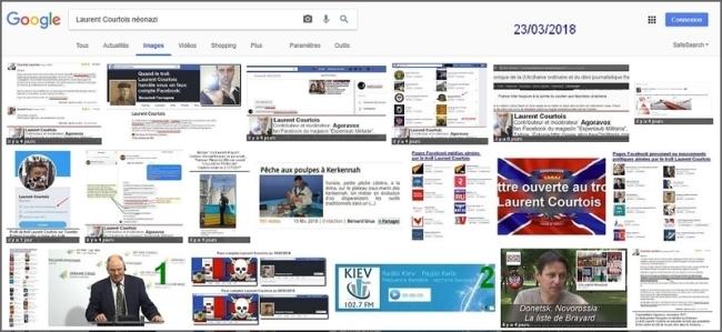 Laurent Courtois, troll-auteur d'Agoravox, résultats de la recherche google image néonazi, fasciste