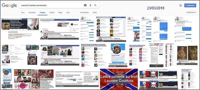 Laurent Courtois, troll-auteur d'Agoravox, résultats de la recherche google image Novorossia, fasciste