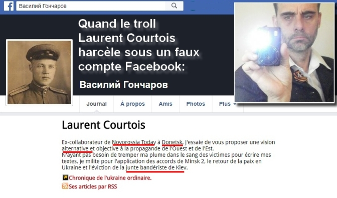 Laurent Courtois Laurent d' Agoravox et Novorossia, harcèle sous un faux compte 110318