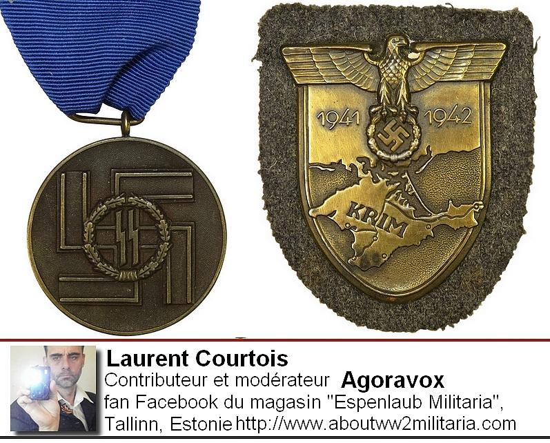 Médaille SS et Crimée - nazis -fascistes - Courtois Laurent, Donetsk, Donbass, Ukraine