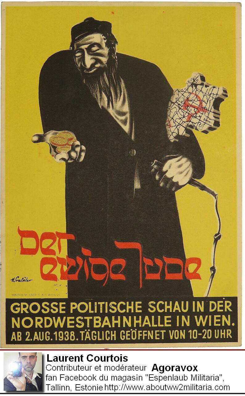 Affiche antisémite - boutique Espenlaub Courtois Laurent, Donetsk, Donbass, Ukraine