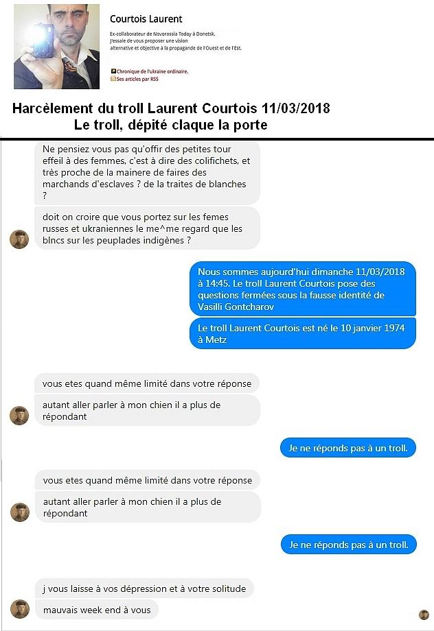 La débandade harcèlement du troll Laurent Courtois Laurent Agoravox Novorossia