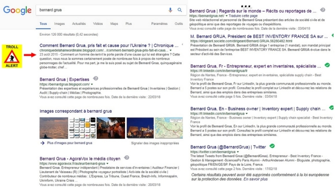 """Résultat recherche """"bernard grua"""" sur Google texte"""
