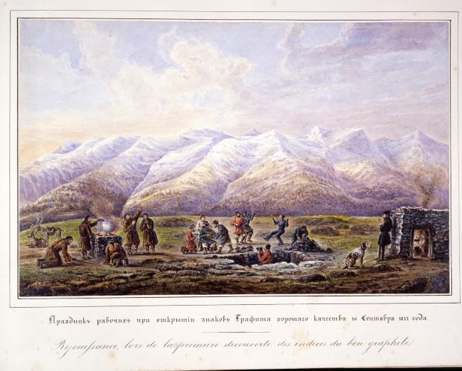 Découverte du graphite de Batagol en 1847 par Jean-Pierre Alibert et son équipe.