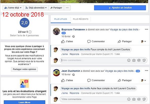 Confirmation des faux comptes de Laurent Courtois Ukraine