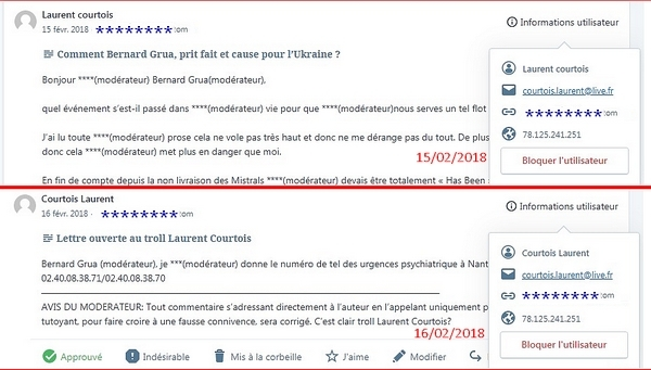 Laurent Courtois commentaires troll Donbass