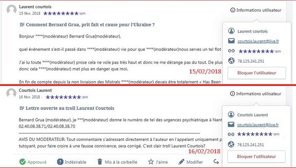 Laurent Courtois commentaires troll Donbass
