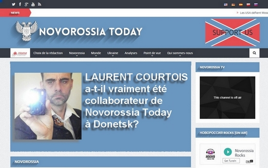 Laurent Courtois a-t-il été collaborateur chez Novorossia Today à Donetsk?