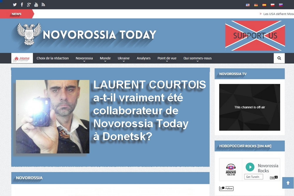 Laurent Courtois a-t-il été véritablement collaborateur de «Novorossia Today» à Donetsk?