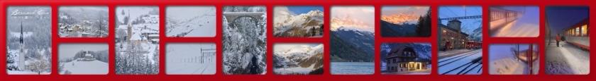 Paysages sur l'itinéraire du Bernina Express et du Glacier Express en hiver Bernard Grua