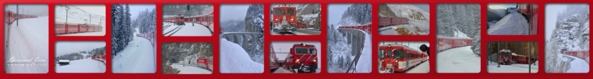 Trains sur l'itinéraire du Bernina Express et du Glacier Express en hiver Bernard Grua