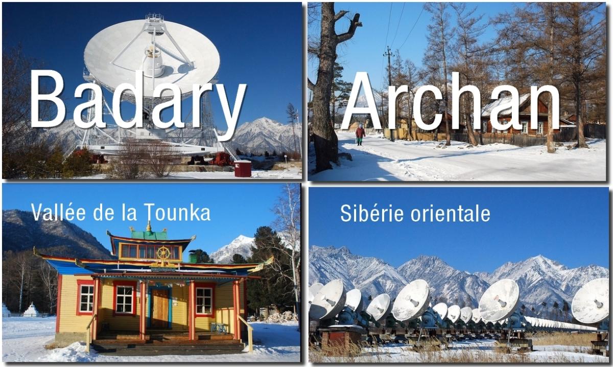 Sibérie: les radiotélescopes de Badary dans la vallée rurale, thermale et bouddhique de laTounka