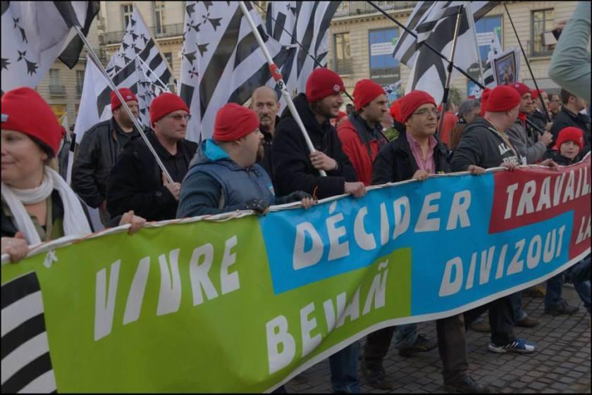 Bernard Grua, participation à la manifestation nantaise en mémoire du cinq-centième anniversaire de la mort de la Duchesse Anne. Janvier 2014