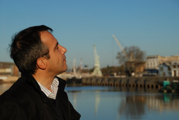 Bernard Grua au port de La Boca à Buenos Aires, Argentine