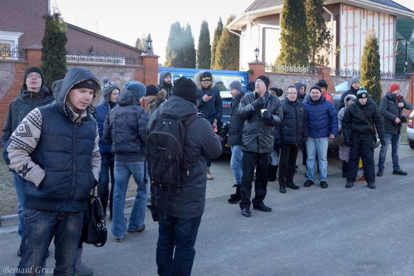Bernard Grua, décembre 2014, manifestation avec l'Automaidan contre la corruption du Premier Ministre Yatseniouk, Kiev, Ukraine