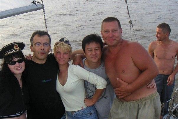 Bernard Grua, navigation sur le fleuve Amour à Komsomolsk na Amure, Extrême Orient russe.