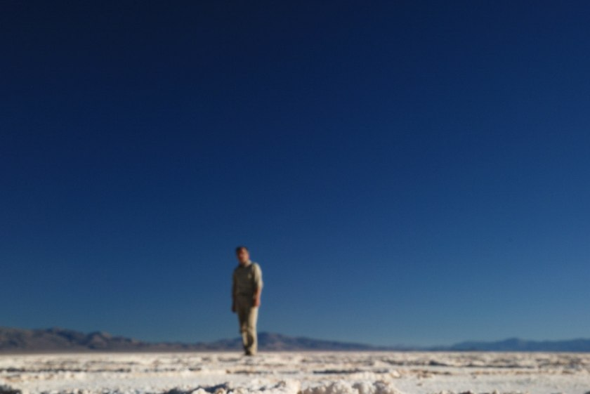 Bernard Grua sur la Salinas Grandes de Jujuy et Salta dans les Andes argentines.