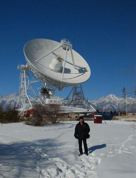 Bernard Grua à l'observatoire astronomique de Badary, vallée de la Tunka, entre le lac Baïkal et la Mongolie, Sibérie