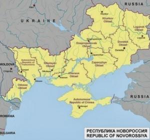 Carte de Novorossia