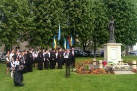 M. Shamshur, 10 mai 2015, célébration de la Journée Anna de Kyiv, Reine de France, à Senlis Photo: ambassade dUkraine